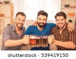 portrait of three happy men... | Shutterstock . vector #539419150