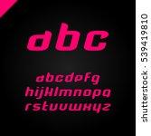 vector square alphabet simple... | Shutterstock .eps vector #539419810