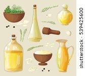 vector set of bottles and... | Shutterstock .eps vector #539425600