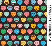 valentines day background with... | Shutterstock .eps vector #539433886