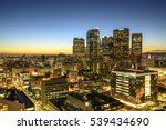 skyscrapers in downtown los... | Shutterstock . vector #539434690