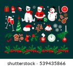 merry christmas and happy new... | Shutterstock .eps vector #539435866
