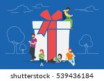 christmas gifts and presents... | Shutterstock . vector #539436184