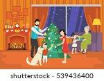 merry christmas concept... | Shutterstock . vector #539436400