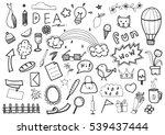 doodle sketch drawing vector... | Shutterstock .eps vector #539437444