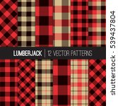 Lumberjack Patterns.  Red ...