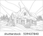 Coloring Page With Winter's...