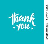 thank you card. hand drawn... | Shutterstock .eps vector #539444356