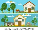 gardening themes design house...   Shutterstock .eps vector #539444980