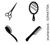 beauty salon icons  vector set | Shutterstock .eps vector #539447704
