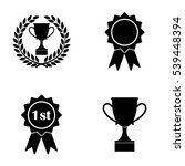 awards badges and cups icons ... | Shutterstock .eps vector #539448394