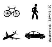 transportation icons  vector set | Shutterstock .eps vector #539448430