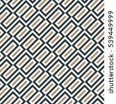 skewed seamless oblong... | Shutterstock .eps vector #539449999