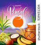 poster design for pongal...   Shutterstock .eps vector #539451304