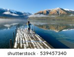 Small photo of Mountains Reflected in Lake Rotoiti. Nelson Lakes National Park, Southern Alps, New Zealand.