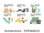 garbage sorting food waste ... | Shutterstock .eps vector #539466013