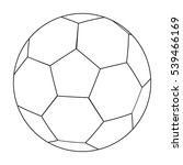 football ball icon in outline... | Shutterstock .eps vector #539466169