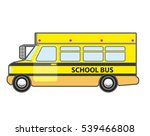 yellow school bus icon. vehicle ... | Shutterstock .eps vector #539466808