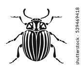 colorado beetle icon in black... | Shutterstock .eps vector #539469418