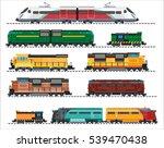 set of modern railway transport ... | Shutterstock .eps vector #539470438