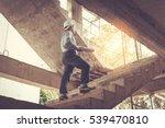 young business man construction ... | Shutterstock . vector #539470810