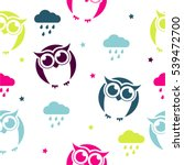 seamless vector pattern with... | Shutterstock .eps vector #539472700