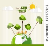 eco friendly. ecology concept... | Shutterstock .eps vector #539477848