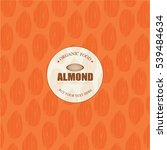 almonds template   vector... | Shutterstock .eps vector #539484634