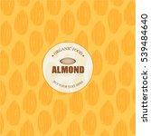 almonds template   vector... | Shutterstock .eps vector #539484640