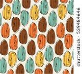 almonds template   vector... | Shutterstock .eps vector #539484646