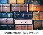vintage weathered leather... | Shutterstock . vector #539496214
