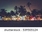 ocean drive street with...   Shutterstock . vector #539505124
