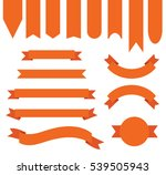 dark apricot orange ribbon... | Shutterstock .eps vector #539505943