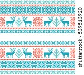 christmas knitted pattern.... | Shutterstock .eps vector #539513920