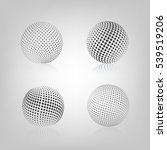 gray sphere with halftone fill...   Shutterstock .eps vector #539519206