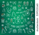 merry christmas. happy new year ... | Shutterstock .eps vector #539523160