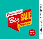 big christmas sale on a blue... | Shutterstock .eps vector #539531938