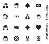 set of 16 editable gambling...