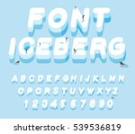 iceberg font. 3d letters of ice.... | Shutterstock .eps vector #539536819