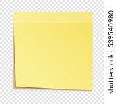 yellow sticky note isolated on... | Shutterstock .eps vector #539540980