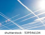 Airplanes In Blue Sky With...