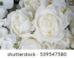Stock photo artificial flowers artificial white roses background 539547580