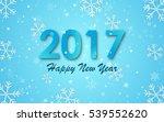 happy new year 2017.... | Shutterstock . vector #539552620
