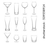 set of drink glasses. isolated... | Shutterstock . vector #539558914