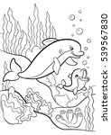 coloring pages. marine wild... | Shutterstock .eps vector #539567830