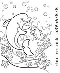 coloring pages. marine wild... | Shutterstock .eps vector #539567878