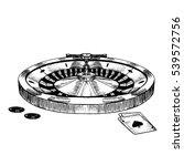 Casino Roulette Wheel Hand Dra...