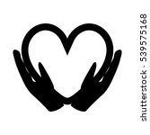 hands holding the heart   icon