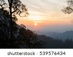 the morning sun on the mountain | Shutterstock . vector #539576434