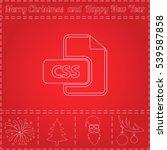 css simple flat vector button.... | Shutterstock .eps vector #539587858